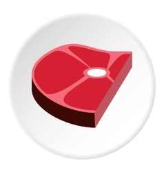 Piece of steak icon flat style vector