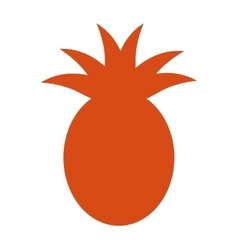 Pineapple fruit health icon vector