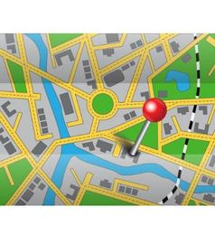 place of destination vector image