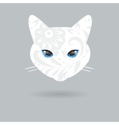 Portrait of a cat with a flat design vector image