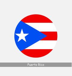 puerto rico round circle flag vector image