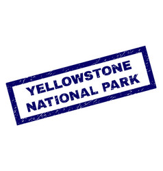 Rectangle scratched yellowstone national park vector