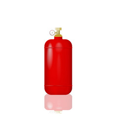 Red cylinder with liquefied gas vector