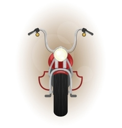 Red motocycle front view vector