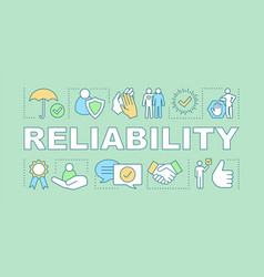 Reliability word concepts banner vector