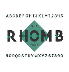 Rhomb font alphabet vector