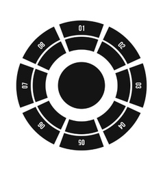 Round chart icon flat style vector