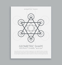 Sacred geometry hipster symbol vector