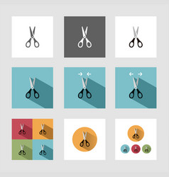 scissors icon set vector image