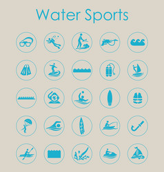 set of water sports simple icons vector image