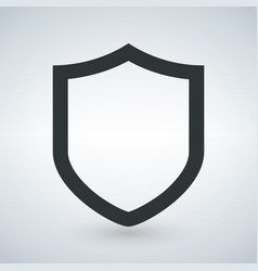 shield icon in trendy flat style isolated on vector image
