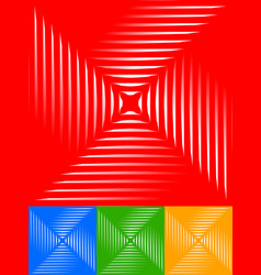 simple artistic square like pattern graphics vector image