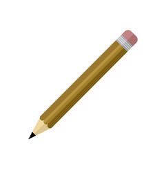 Simple brown pencil design vector