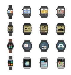 Smart Watch Icon Flat vector