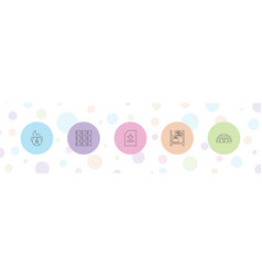 Storage icons vector