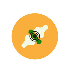 Stylish icon in color circle problems joints vector