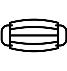 Surgical mask line style icon vector