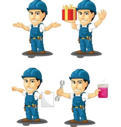 Technician or Repairman Mascot 11 vector image