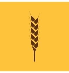 The wheat icon Spica symbol Flat vector image
