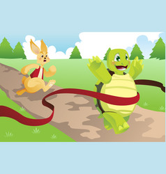 tortoise and hare vector image