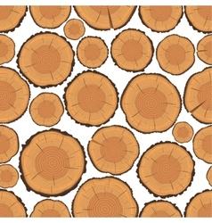 Tree Rings Seamless Pattern vector image