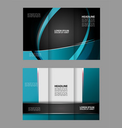 Tri-fold business brochure template three-sided t vector