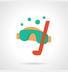 underwater sport flat color icon vector image