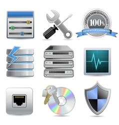 Web hosting icons vector