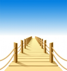 wooden jetty vector image vector image