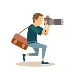 Working Photographer in Flat Style vector
