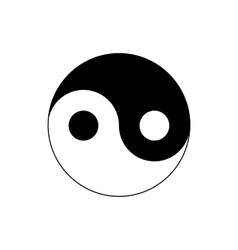 Ying yang icon in simple style vector image