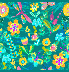 bright colorful floral pattern for beautiful vector image vector image