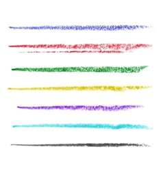 Colored brush strokes of pastel vector image