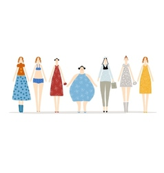 Hen party with girls for your design vector image