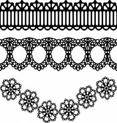 lace design vector image vector image