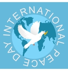 Peace Day vector image vector image