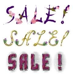 Sale - inscription vector image