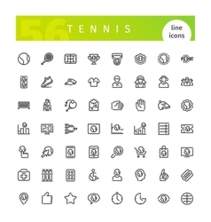 Tennis Line Icons Set vector image vector image