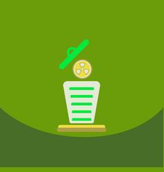Trash recycle bin garbage flat nuclear power vector