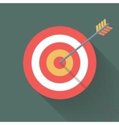 Aiming concept the arrow in bulls eye vector image