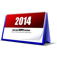 al 0707 desk calendar vector image vector image