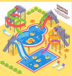 aqua park vector image vector image