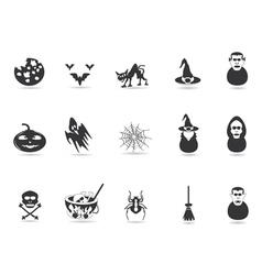 black halloween icon vector image