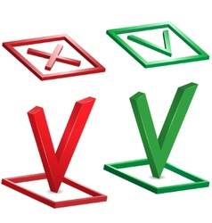 check and cross mark vector image vector image