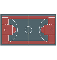 colorful baseball court top view icon isolated on vector image