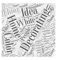 Ideas for decorating a home word cloud concept vector