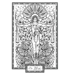 zodiac sign libra or scales vector image vector image