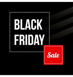 Black friday sale card modern banner template vector image vector image