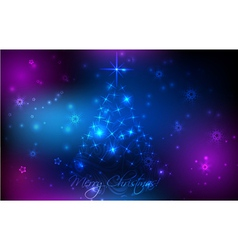 christmas glowing background vector image vector image