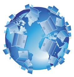 Computer World isolated vector image vector image